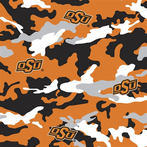 Oklahoma Upholstery by Ncaa Cotton Fabric Oklahoma State Camo Jo