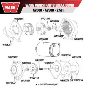 warn 36031 warn winch motor for a2000 a2500 2 5 ci ebay