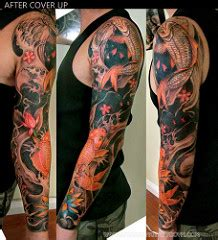 geisha tattoo cover up tattoo design cover up full arm annahangtattoo flickr