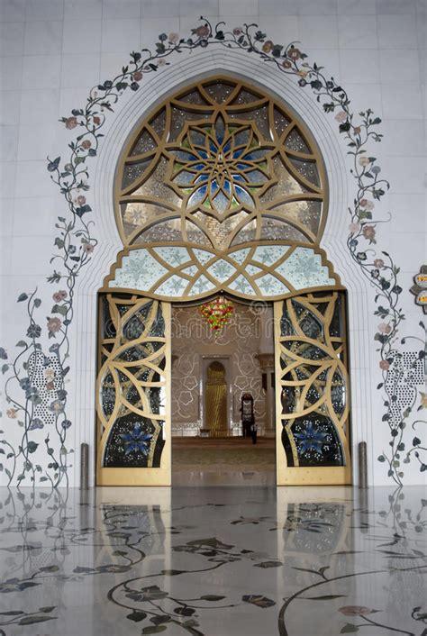 masjid entrance design main door sheikh zayed mosque stock image image of door