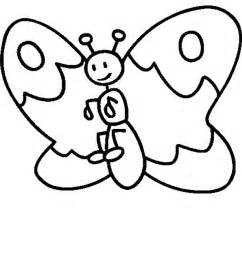 Bold outline coloring sheets pre k butterfly coloring