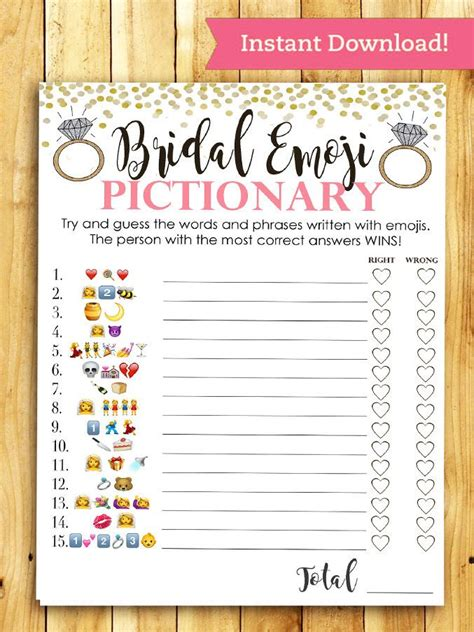 top bridal shower and activities printable emoji pictionary bridal shower bridal shower bridal shower