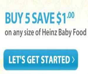 heinz baby food printable coupons heinz coupon for 1 off baby food printable coupons