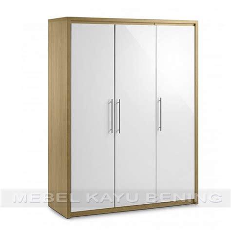 Lemari Kayu Sleding lemari pakaian 3 pintu kayu jati model minimalis safari