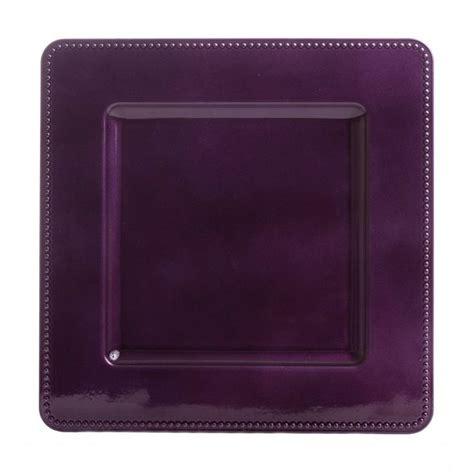 square charger plates leia square purple charger plates bulk 36 pieces 1 00