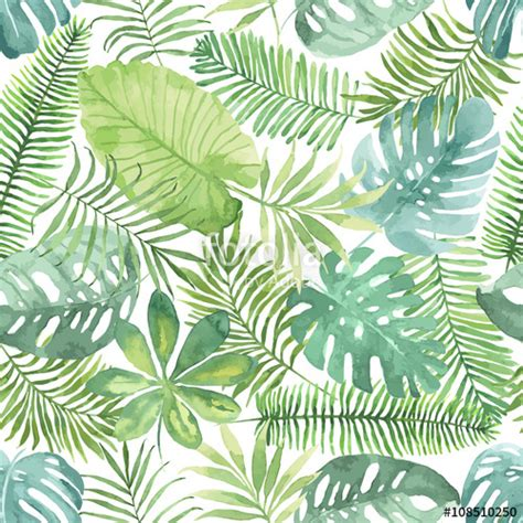 watercolor tropical pattern quot tropical seamless pattern with leaves watercolor
