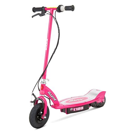 razor electric scooter with seat e100 razor 13111261 e100 electric scooter pink ebay