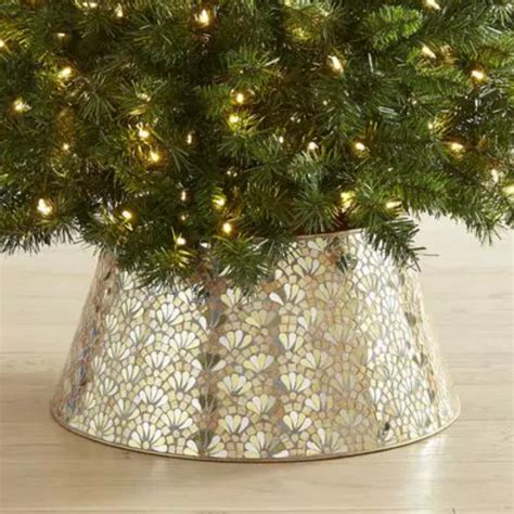 gold christmas tree collar tree collars and baskets weekend craft