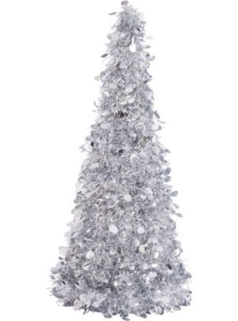 3d silver tinsel christmas tree 18in party city canada