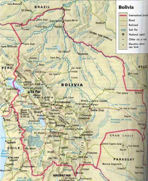 map of bolivia maps of bolivia