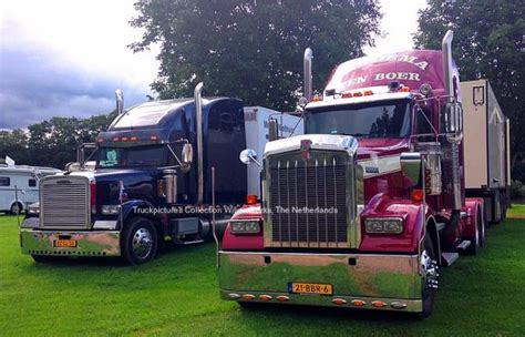 kenworth trucks deutschland kenworth w900 and freightliner classic in klusserath