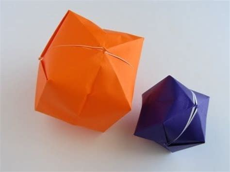 Origami Balloon Box - origami water balloon use as quot pig bladder quot to go