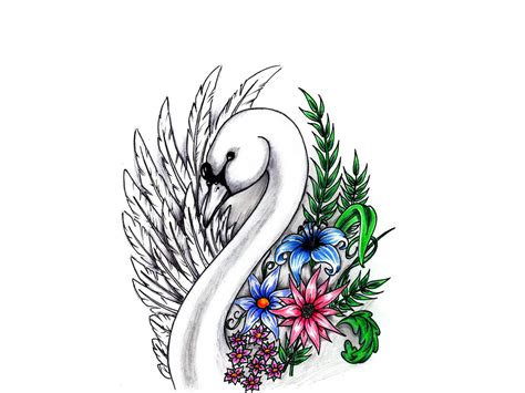swan tattoo designs flowers swan designs for tattoos
