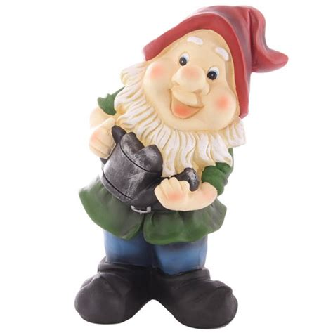 cute garden gnomes cute novelty garden gnome holding watering can aura giftware
