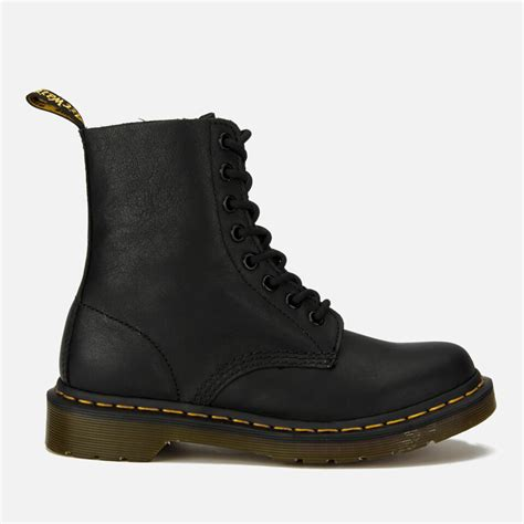 Dr Martens Boots 8217 dr martens s pascal virginia leather 8 eye lace up boots black free uk delivery allsole