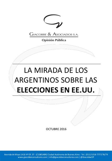 la mirada de los la mirada de los argentinos sobre las elecciones en eeuu