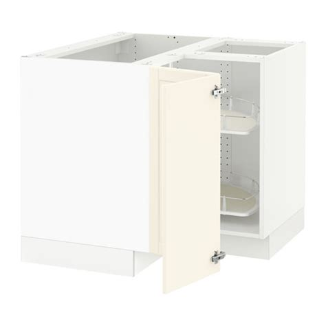 sektion corner wall cabinet with carousel white bodbyn sektion corner base cabinet with carousel white bodbyn