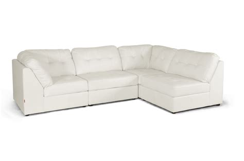Modern Modular Sectional Sofa Baxton Studio Warren White Leather Modern Modular Sectional Sofa Set Affordable Modern