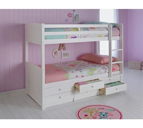 buy home leigh detachable single bunk bed frame white at