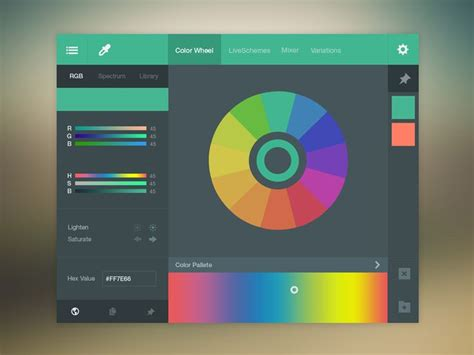 color scheme selector color picker ui free psd flats wheels and color picker