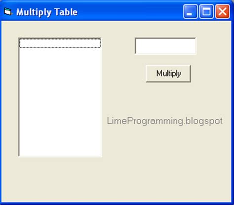 print multiplication table in vb multiplication table 1 to 10 in c programming times