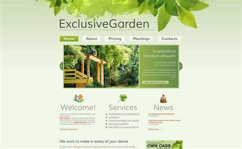 Garden Layout Template Garden Design Moto Cms Html Template 45617