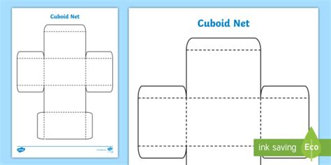 debate card cutting template 3d net for cuboid cuboid net shape 3d cut out maths 3d