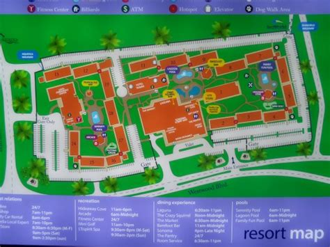 sea resort map resort layout picture of doubletree by orlando at