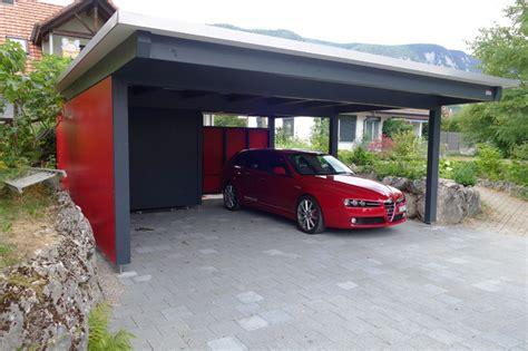 doppelcarport schweiz carport autounterstand garage aus holz baumberger bau ag