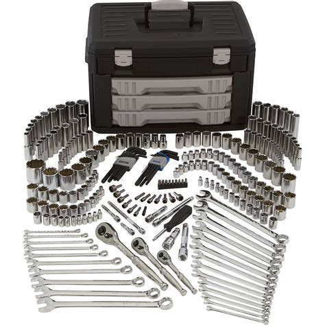 tool sets klutch mechanic s tool set 245 pc 1 4in 3 8in 1 2in drive northern tool equipment