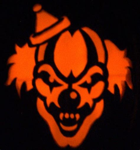 scary o lantern templates evil clown stencils scary clown s fright