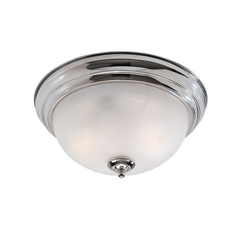 Chrome Flush Mount Ceiling Light by Shop Livex Lighting Regency 13 In W Chrome Ceiling Flush