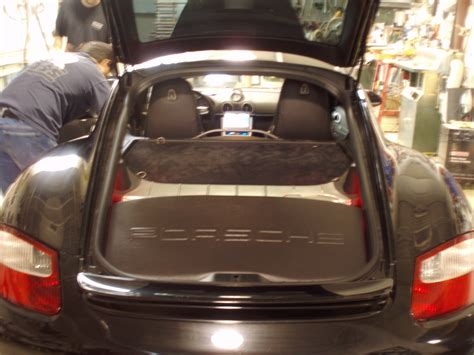 porsche trunk in porsche cayman s dark knight motor s master