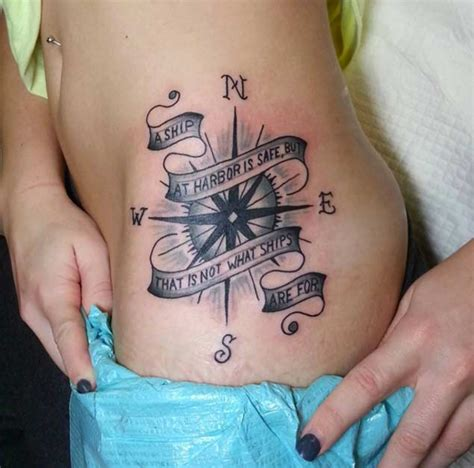 compass tattoo hip blue roses tattoo flickr photo sharing tattoo