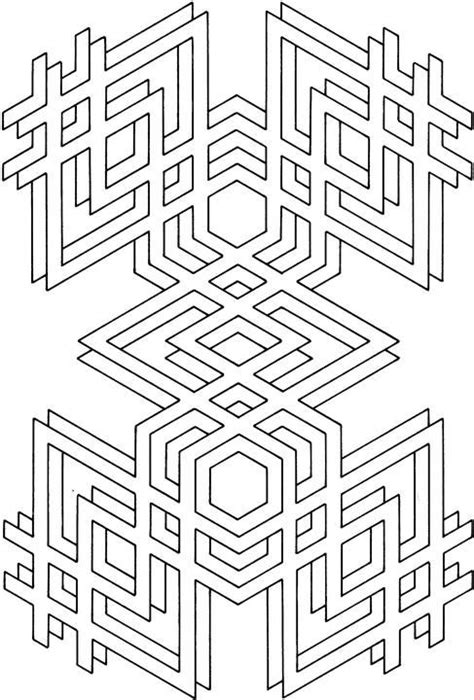 geometric shapes cartoon coloring page geometric