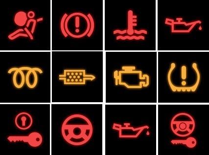 quiz: identify the car dashboard warning lights green flag