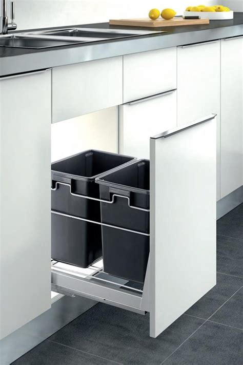 in cabinet trash cans for the kitchen 40 unique trash cans that solve all your rubbish problems