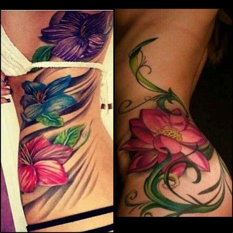 tattoo flower on side side tattoos flower tattoos colored flower tattoos