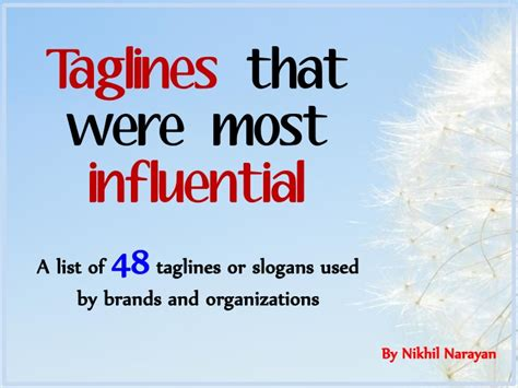 Linkedin Tagline Mba by Taglines That Were Most Influential