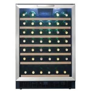 home depot wine cooler danby 50 bottle built in wine cooler dwc508bls the home