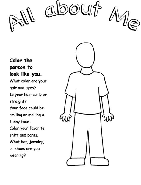 person template preschool 10 best images of draw a person worksheet person outline