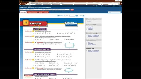 online tutorial math holt mcdougal mathematics worksheets worksheets