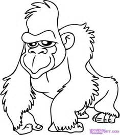 gorilla colors how to draw a gorilla gorilla step by step
