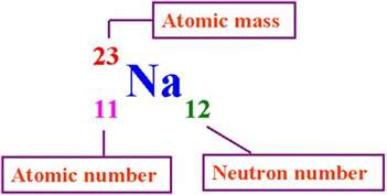 Proton Mass Number Representing Atoms