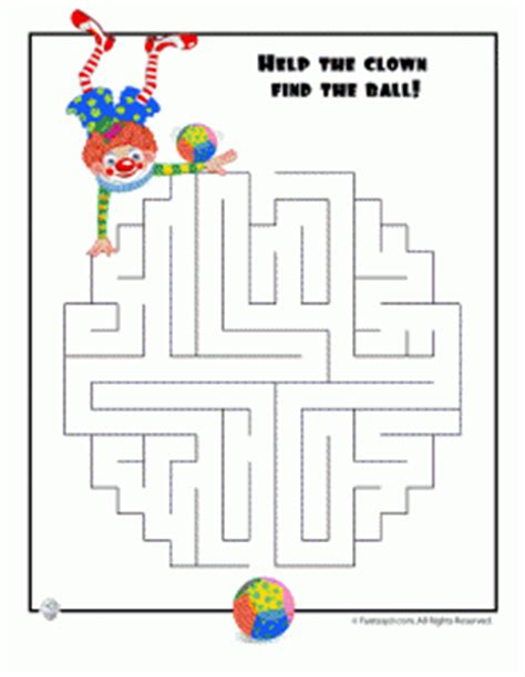 fabulous clown for maze easy mazes woo jr activities