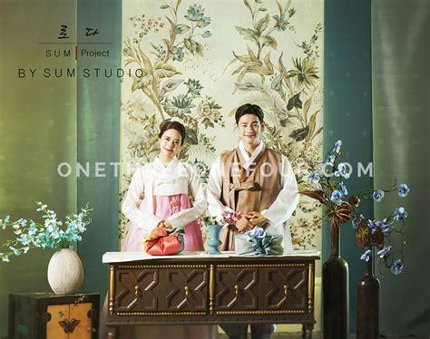 korean wedding photos indoor set new sum studio