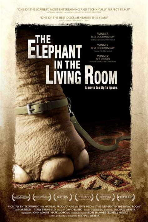 an elephant in the living room the elephant in the living room movie posters from movie
