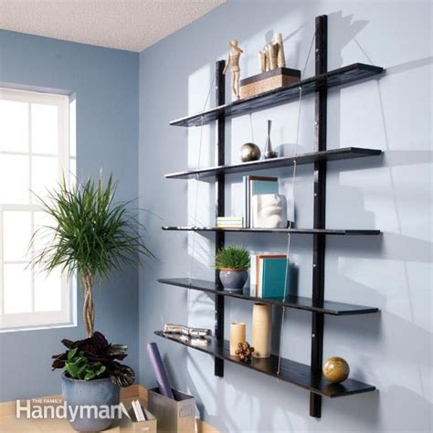 how to build suspended bookshelves family handyman