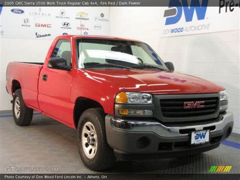 how to work on cars 2005 gmc sierra 3500 engine control 2005 gmc sierra 1500 work truck regular cab 4x4 in fire red photo no 27379995 gtcarlot com