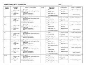 weekly progress report template for teachers weekly progress report template for teachers